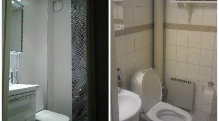 WC-remontti (jälkeen ja ennen)