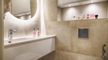 60x60 Flaciker Urban Concrete Beige lattia ja seinät