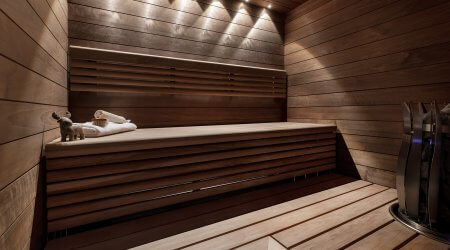 Sauna uusittuna